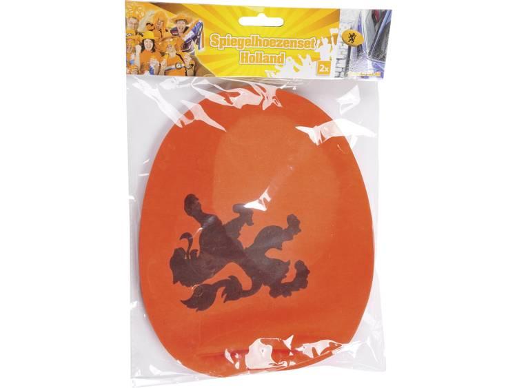 Spiegelhoezen Holland oranje met leeuw