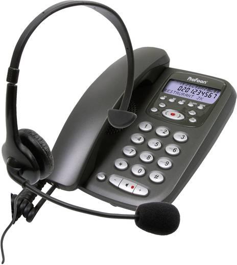 Profoon TX-255 Bedrade analoge telefoon Zwart