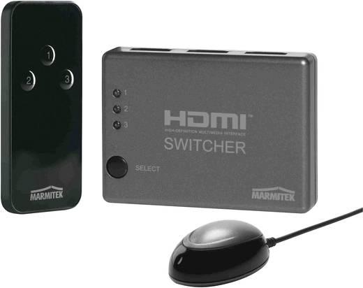 HDMI-switch 3 poorten met afstandsbediening, 3D-weergave mogelijk Marmitek Connect 310