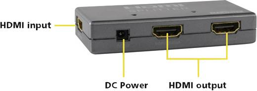 Marmitek Split 312 HDMI-splitter met ingebouwde repeater N/A Zilver