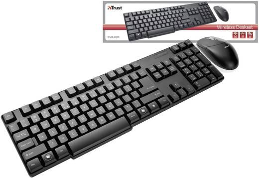 Trust 16593 Set met draadloos toetsenbord en muis Engels, QWERTY Zwart