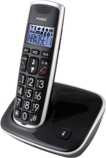 Fysic FX-6000 Draadloze seniorentelefoon Zwart