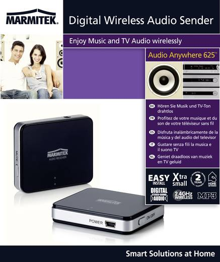 Marmitek Audio Anywhere 625 Draadloze cinch-set (stereo) 10 m 2.4 GHz