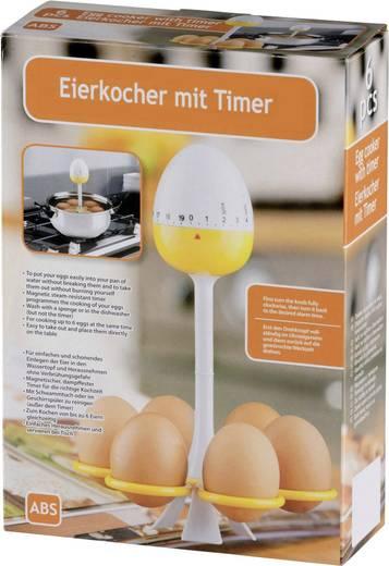 53383 Mechanische keukenwekker Geel-wit