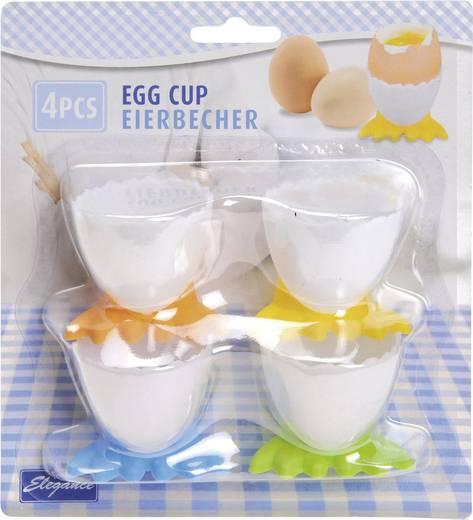 Set van 4 kunststof eierdopjes met pootjes