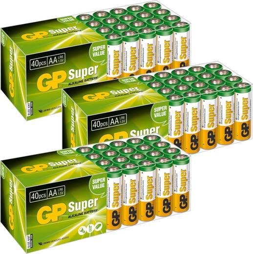 AA batterij (penlite) GP Batteries Alkaline 1.5 V 120 stuks
