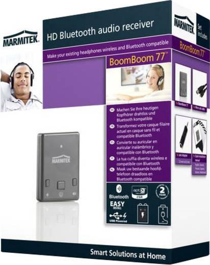 Marmitek Bluetooth muziekontvanger BoomBoom 77 Bluetooth versie: A2DP 10 m AptX-technologie