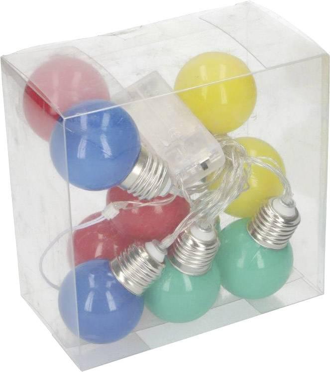 led party lichtketting met gekleurde bollen aantal lampen 10