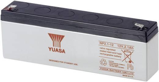 Yuasa NP2.1-12 Loodaccu 12 V NP2.1-12 Loodvlies (AGM) (l x b x h) 178 x 34 x 64 mm