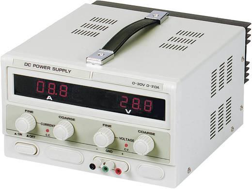 Velleman PS3020 Labvoeding, regelbaar 0 - 30 V/DC 0 - 20 A 600 W Aantal uitgangen 1 x