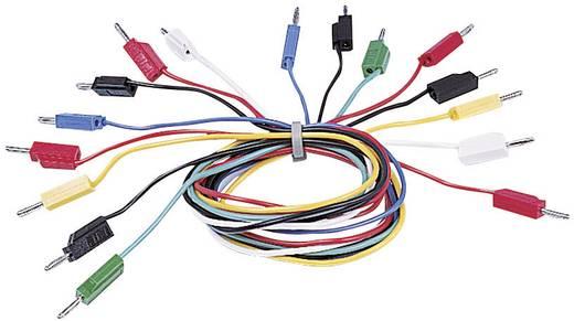 Electro PJP 214-50-NOIR Meetsnoer [ Banaanstekker - Banaanstekker] 0.50 m Zwart