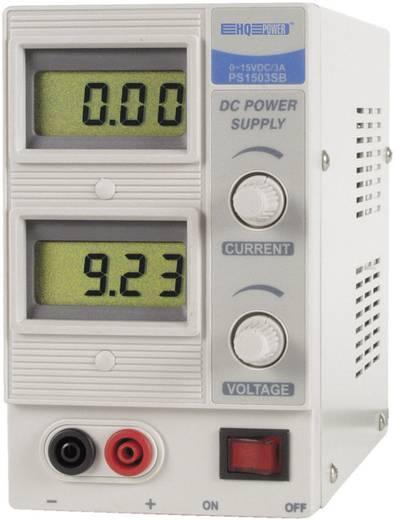 Velleman HQ-power Labvoeding, regelbaar 0 - 15 V/DC 0 - 3 A 45 W Aantal uitgangen 1 x