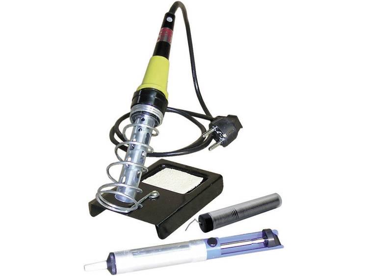 Velleman Soldeerboutset 230 V 30 W incl. soldeertin, incl. uitrusting, incl. desoldeerzuigpomp