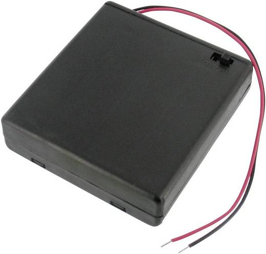 Velleman BH341BS Batterijhouder 4 AA (penlite) (l x b x h) 69 x 65 x 19 mm