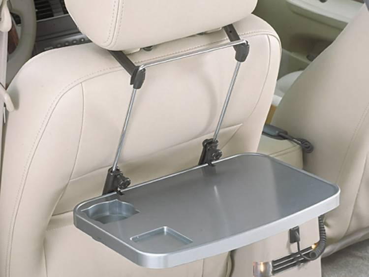 Inklapbaar tafeltje voor in de auto