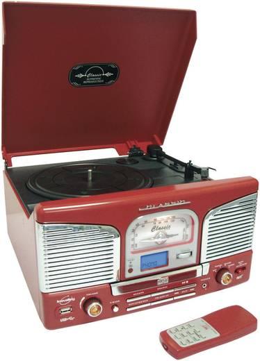 Inovalley RETRO-03N rode stereo-installatie met digitalisering (vinyl, CD)