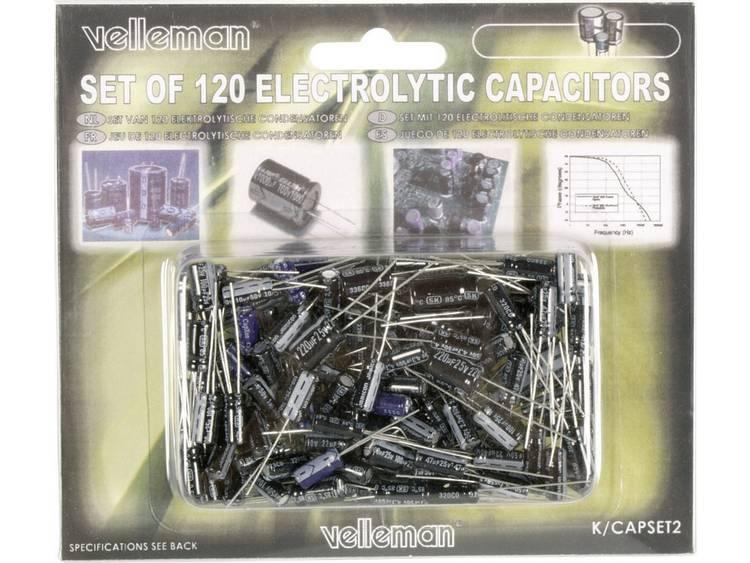 Set condensatoren Inhoud: 120 stuks
