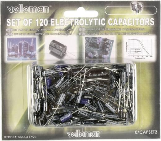 Elektrolytische condensator assortiment Radiaal bedraad 25 V, 50 V Velleman K/CAP2 1 set