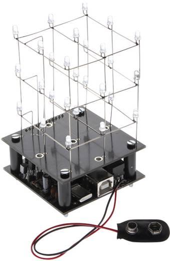 Velleman MK193 LED-cube bouwpakket Uitvoering (bouwpakket/module): Bouwpakket 5 V/DC, 9 V/DC
