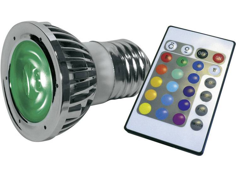 Lumihome LED Energielabel A (A++ - E) E27 5 W (Ø x l) 48 mm x 60 mm Colorchanging, incl. afstandsbediening 1 set