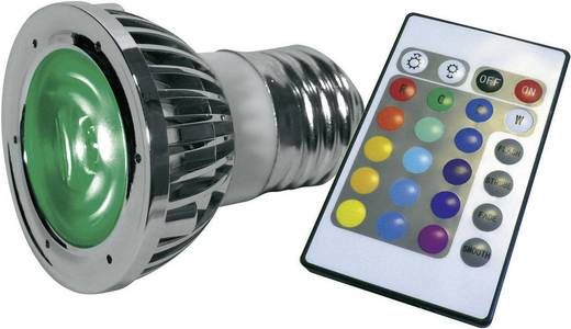 LED E27 5 W (Ø x l) 48 mm x 60 mm Energielabel: A Lumihome Colorchanging, Incl. afstandsbediening 1 set