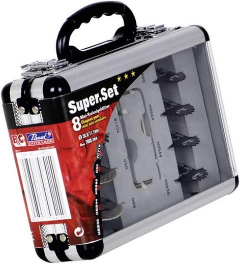 Set van 8 zaagbladen in koffer voor mini-cirkelzaag Passat MINIZAAG01SET