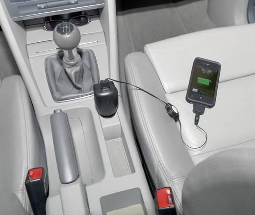 USB-oplader PRCT3/1 (Thuis, Auto, Vrachtwagenlader) 1 x Apple dock-stekker, Micro-USB, Mini-USB, Nokia 2 mm stekker,