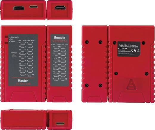 Velleman VTTEST30 HDMI-kabeltester Geschikt voor HDMI-kabels type A/C, HDMI 1.0, 1.1, 1.2, 1.2a, 1.3, 1.3a, 1.3b, 1.3c, 1.4, 1.4a (kabels cat.1 en cat. 2)