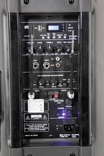 Mobiele PA luidspreker 38 cm 15 inch Ibiza Sound<br