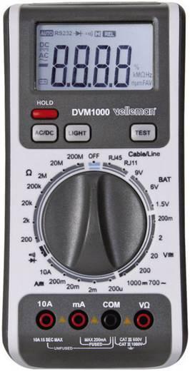 Velleman DVM1000 Multimeter Digitaal Kalibratie: Zonder certificaat CAT III 600 V, CAT II 1000 V Weergave (counts): 200