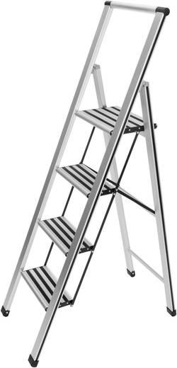 Wenko 601013500 Aluminium inklapbare keukentrap hoogte 148 cm