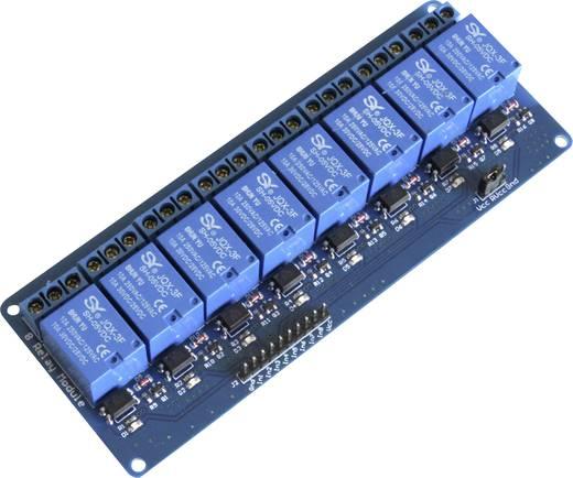 Relaiskaart 5V/DC 8-voudig (voor Arduino, Raspberry Pi etc.)