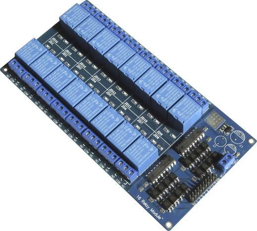 Relaiskaart 5V/DC 16-voudig (voor Arduino, Raspberry Pi etc.)
