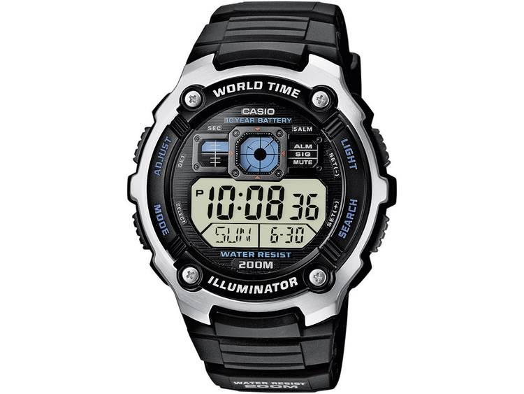 Casio Quartz Horloge AE 2000W 1AVEF Zwart Zilver Materiaal behuizing Kunstst