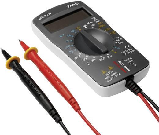 Velleman DVM821 Multimeter Digitaal Kalibratie: Zonder certificaat CAT II 500 V, CAT III 300 V Weergave (counts): 1999