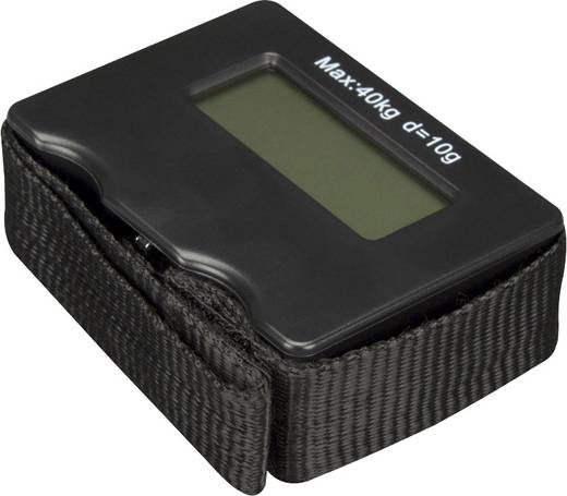 Kofferweegschaal Velleman VTBAL28 Zwart Weegbereik (max.) 40 kg Resolutie 10 g 1 stuks