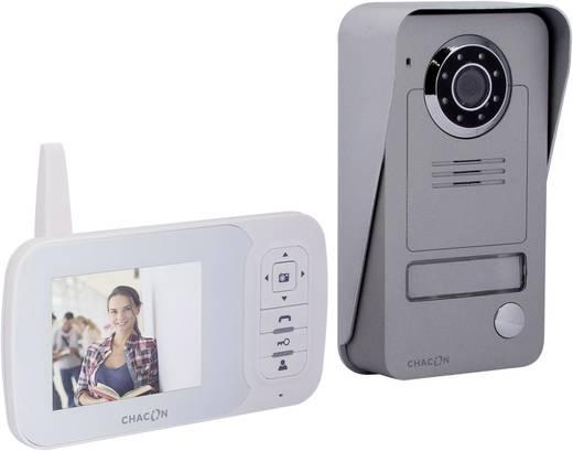 Chacon 34817 Complete set voor WiFi deurbel met video Radiografisch Aluminium, Lux-wit