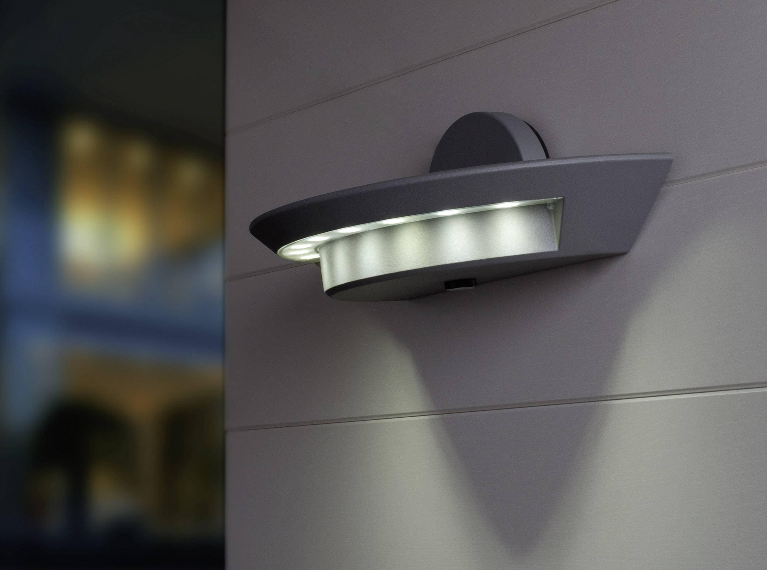 Buiten led wandlamp w neutraal wit antraciet eco light ghost