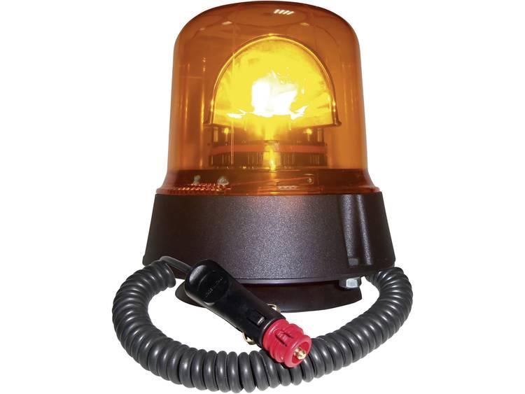 AJ.BA Zwaailicht GL.02 12 V, 24 V werkt op boordnet Zuignap, Magneetbevestiging Oranje