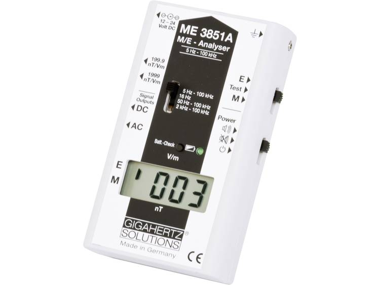 Gigahertz Solutions ME3851A Lage frequentie LF Meetapparaat voor elektrosmog 5