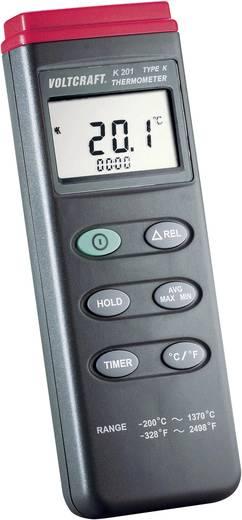 VOLTCRAFT K201 Temperatuurmeter -200 tot +1370 °C Sensortype K Kalibratie: Zonder certificaat