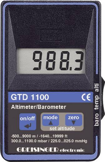 Drukmeter Greisinger GTD 1100 Luchtdruk 0.3 - 1.1 bar Met hoogtemeter