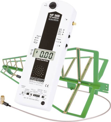Gigahertz Solutions HF 38B Hoogfrequentie (HF)-meter 800 - 2500 MHz (3300 MHz / -3 dB), omvat o.a.GSM-telefonie, UMT