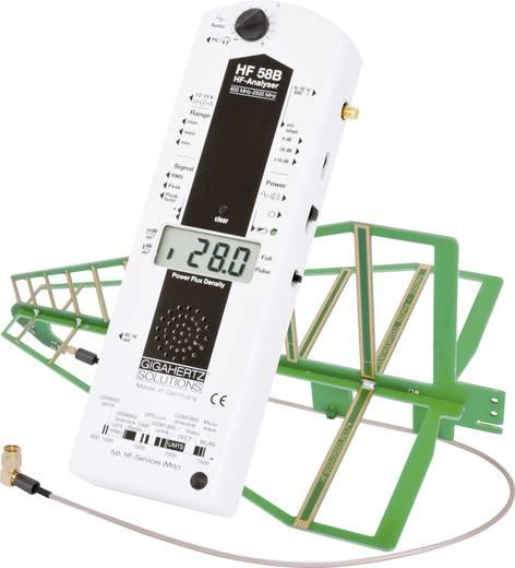 Gigahertz Solutions HF 58B Hoogfrequent (HF)-analyse-apparaat, elektrosmogmeter, 800 MHz - 3.3 GHz / -2 dB, omvat o.a.GSM-telefonie, UMTS, DECT, Bluetooth, Radar en magnetrons.