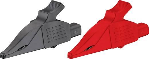 Veiligheids-krokodilklemmenset Steekaansluiting 4 mm CAT III 1000 V Zwart, Rood Stäubli XDK 1033 SET
