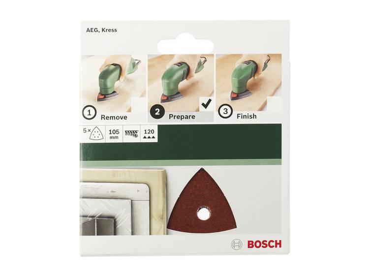 Delta schuurpapier met klittenband, geperforeerd Korrelgrootte 80 Hoekmaat 105 mm Bosch 2609256A57 5