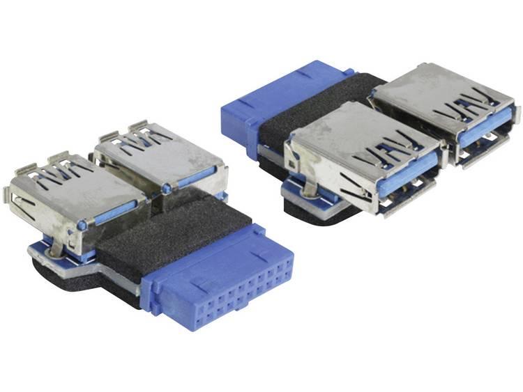 Delock USB Adapter [1x USB 3.0 bus intern 19-polig - 2x USB 3.0 bus A] 65324