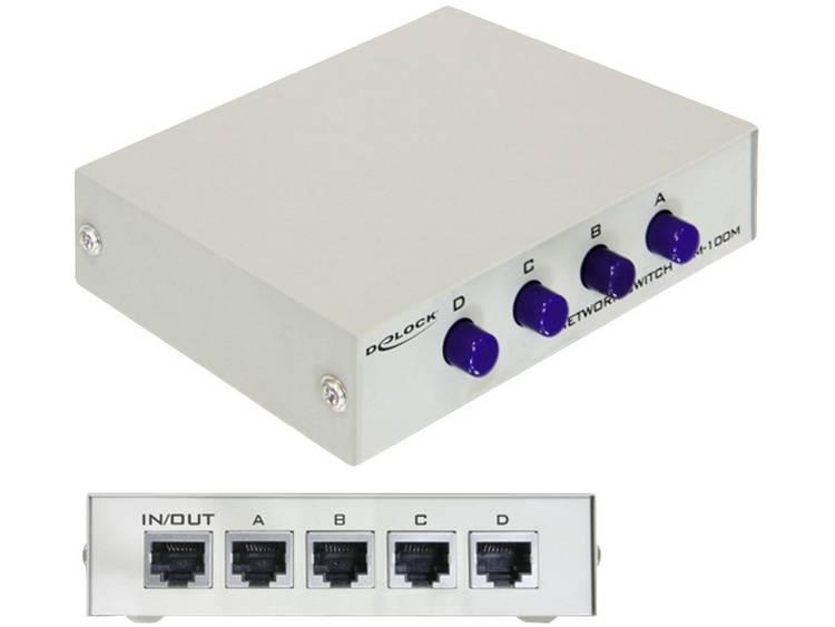 Delock 87588 Netwerk switch RJ45 4 poorten 100 Mbit/s