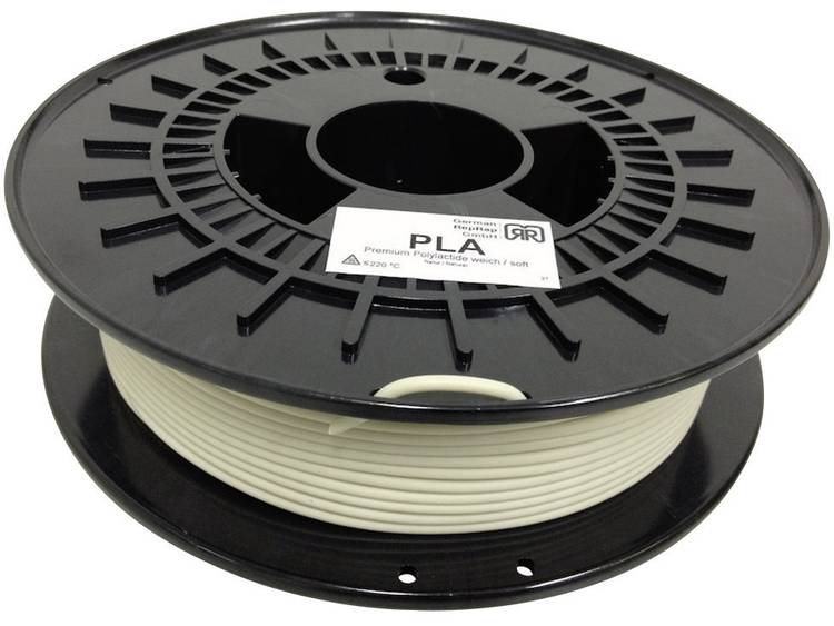 German RepRap 3 mm PLA kunststof Filament Naturel (zacht) 750 g