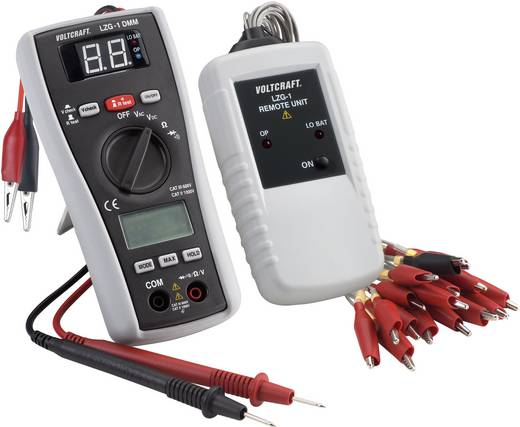 VOLTCRAFT LZG-1 DMM digitale multimeter met kabeltester CAT III 600 V, Geschikt voor Spanningsvrije kabels